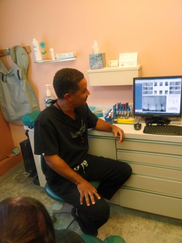 Dr. Kevin Granger evaluating patient X-Rays
